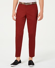 I.N.C. Men's Slim-Fit Brick Pants, Created for Macy's