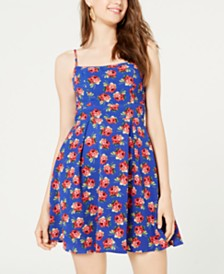 B Darlin Juniors' Floral Bow-Back Dress