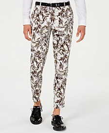 INC Men's Slim-Fit Botanical Pants, Created for Macy's