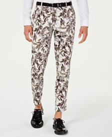 I.N.C. Men's Slim-Fit Botanical Pants, Created for Macy's