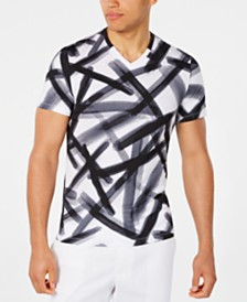 Alfani Men's Graffiti Graphic V-Neck T-Shirt, Created for Macy's