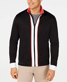 Alfani Men's Colorblocked Full-Zip Knit Jacket, Created for Macy's