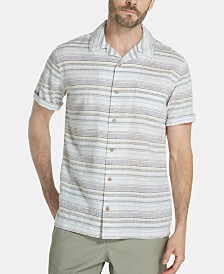 Weatherproof Vintage Men's Striped Camp Shirt