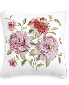"Hotel Collection Classic Jardin 16"" Square Decorative Pillow, Created for Macy's"