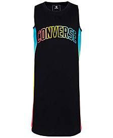 Big Girls Gradient Logo Tank Dress