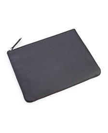 Zippered Leather Travel Organizer Pouch