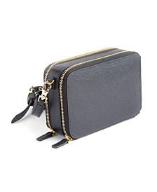 Royce New York Pebbled Leather Cross Body Bag