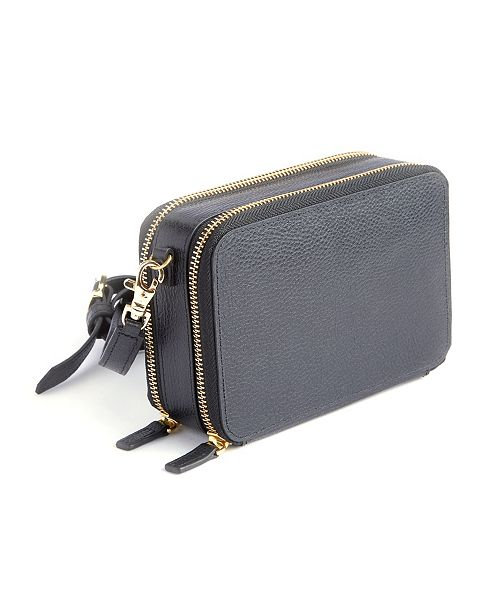 Royce Leather Royce New York Pebbled Leather Cross Body Bag