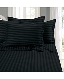 6-Piece Luxury Soft Stripe Bed Sheet Set Queen