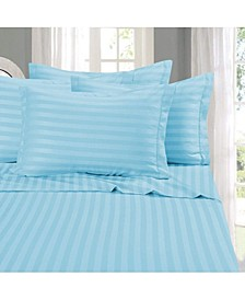 6-Piece Luxury Soft Stripe Bed Sheet Set California King