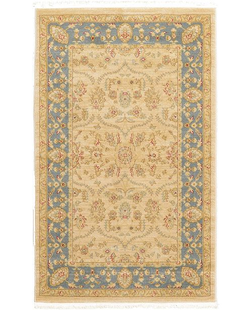 "Bridgeport Home Orwyn Orw6 Beige/Blue 3' 3"" x 5' 3"" Area Rug"