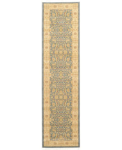 "Bridgeport Home Orwyn Orw8 Blue 2' 7"" x 10' Runner Area Rug"