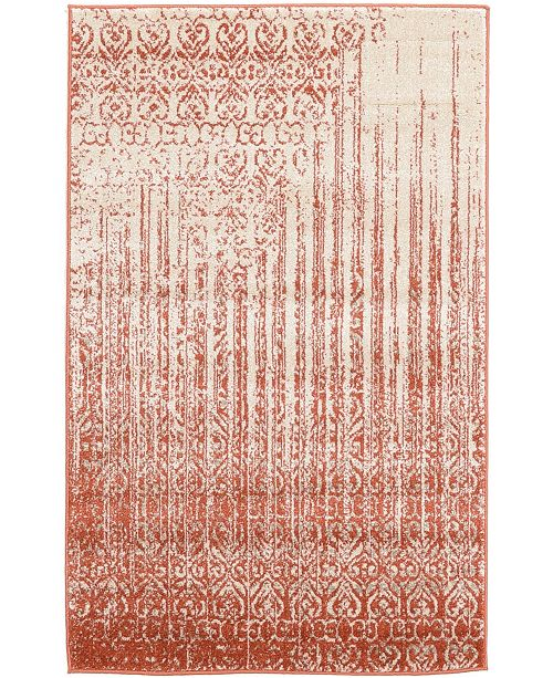 "Bridgeport Home Lyon Lyo2 Red 3' 3"" x 5' 3"" Area Rug"