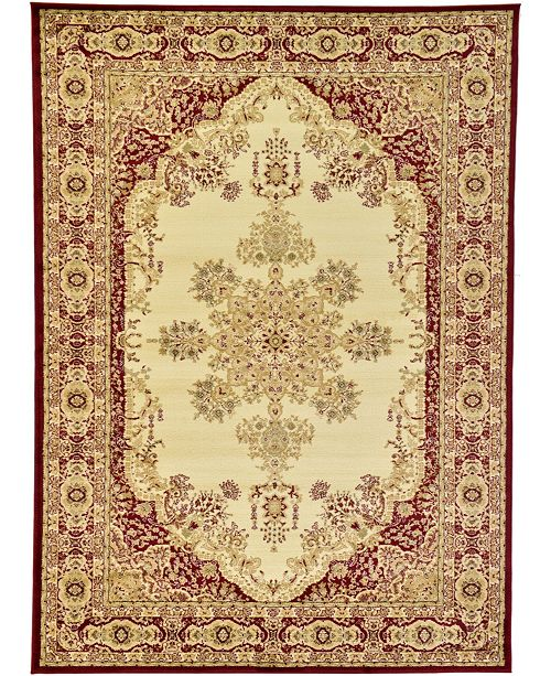 Bridgeport Home Belvoir Blv1 Ivory/Red 7' x 10' Area Rug