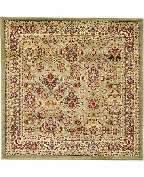 Bridgeport Home Passage Psg7 Light Green 4' x 4' Square Area Rug