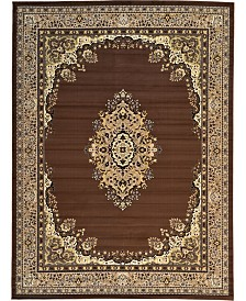 "Bridgeport Home Birsu Bir1 Brown 9' 10"" x 13' Area Rug"
