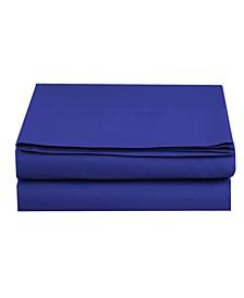Silky Soft Single Flat Sheet Twin Royal Blue