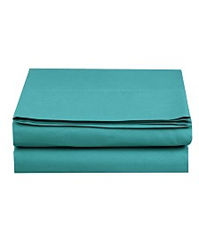 Elegant Comfort Silky Soft Single Flat Set King Turquoise