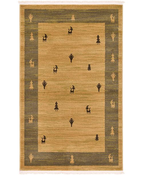 "Bridgeport Home Ojas Oja1 Tan 3' 3"" x 5' 3"" Area Rug"