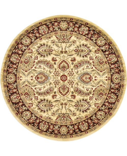 Bridgeport Home Passage Psg9 Ivory 8' x 8' Round Area Rug