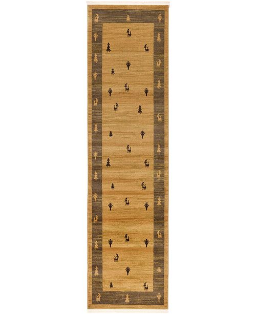 """Bridgeport Home Ojas Oja1 Tan 2' 7"""" x 10' Runner Area Rug"""