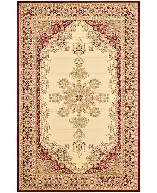 "Bridgeport Home Belvoir Blv1 Ivory/Red 10' 6"" x 16' 5"" Area Rug"