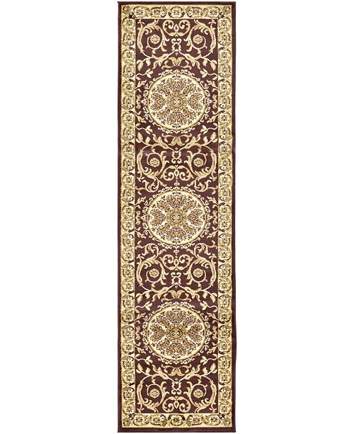 "Bridgeport Home Belvoir Blv2 Brown 2' 7"" x 10' Runner Area Rug"