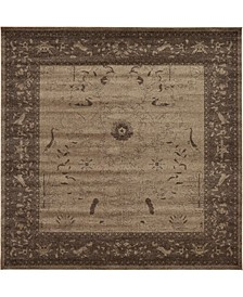 Aldrose Ald4 Light Brown 10' x 10' Square Area Rug