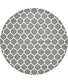"Arbor Arb1 Dark Gray 12' 2"" x 12' 2"" Round Area Rug"