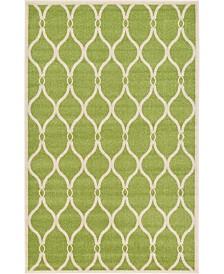 Bridgeport Home Arbor Arb6 Green 5' x 8' Area Rug