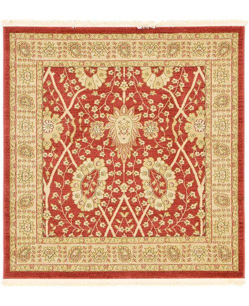 Bridgeport Home Orwyn Orw9 Red 4' x 4' Square Area Rug