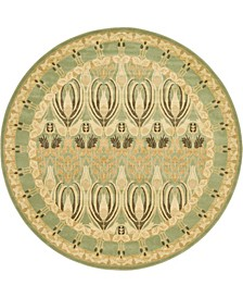 Orwyn Orw3 Light Green 8' x 8' Round Area Rug