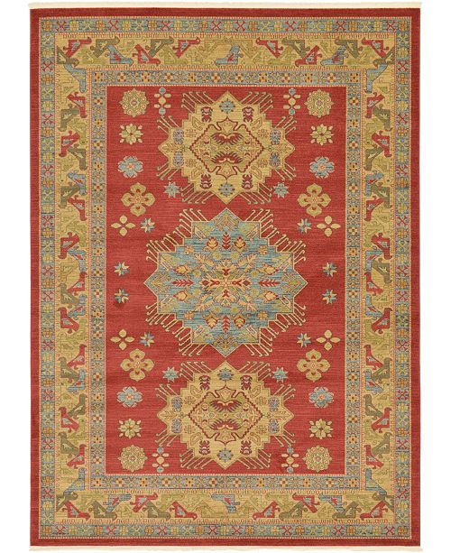 Bridgeport Home Harik Har1 Red 8' x 11' Area Rug