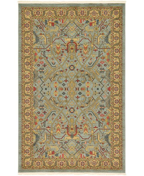 Bridgeport Home Harik Har1 Light Blue 5' x 8' Area Rug