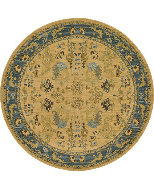 Bridgeport Home Orwyn Orw2 Tan 8' x 8' Round Area Rug