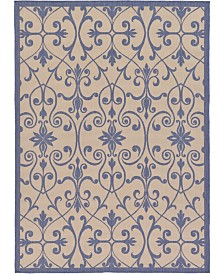 Bridgeport Home Pashio Pas5 Blue 7' x 10' Area Rug