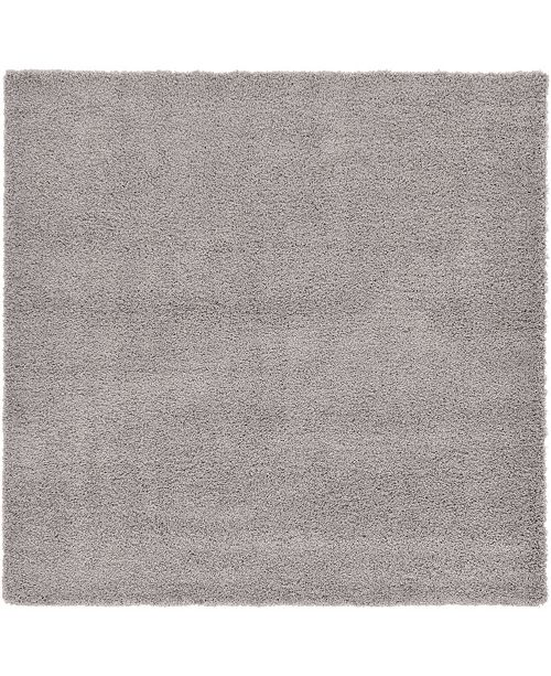 "Bridgeport Home Exact Shag Exs1 Cloud Gray 8' 2"" x 8' 2"" Square Area Rug"