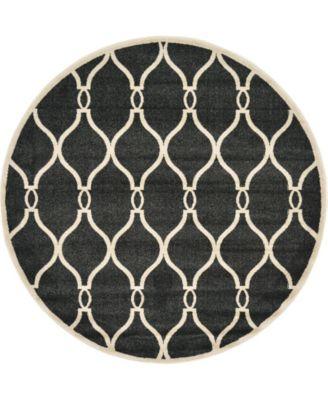 Arbor Arb6 Black 6' x 6' Round Area Rug