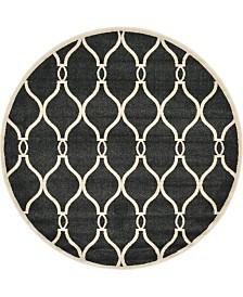 Bridgeport Home Arbor Arb6 Black 6' x 6' Round Area Rug
