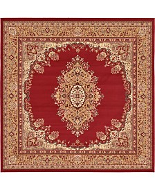 Bridgeport Home Birsu Bir1 Burgundy 8' x 8' Square Area Rug
