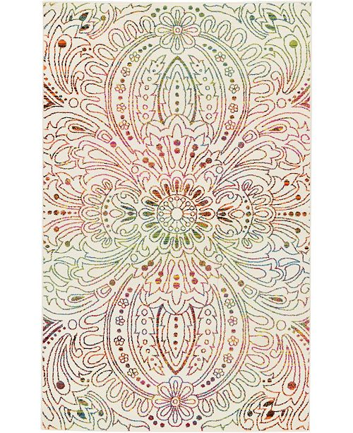 Bridgeport Home Pari Par3 Ivory 5' x 8' Area Rug