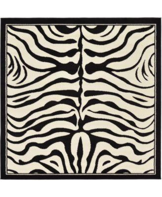 Maasai Mss4 Beige 6' x 6' Square Area Rug