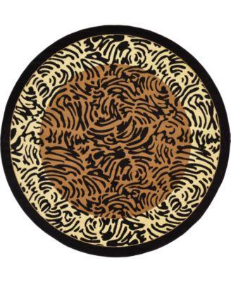 Maasai Mss7 Light Brown 8' x 8' Round Area Rug