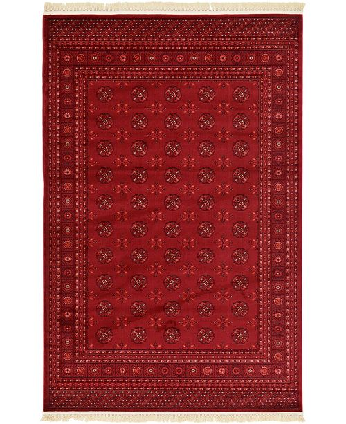 Bridgeport Home Vivaan Viv1 Red 6' x 9' Area Rug