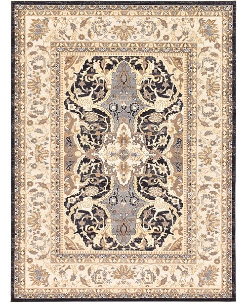 Bridgeport Home Wisdom Wis2 Black 9' x 12' Area Rug