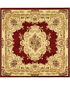 Belvoir Blv5 Red 6' x 6' Square Area Rug