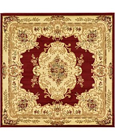 Bridgeport Home Belvoir Blv5 Red 6' x 6' Square Area Rug