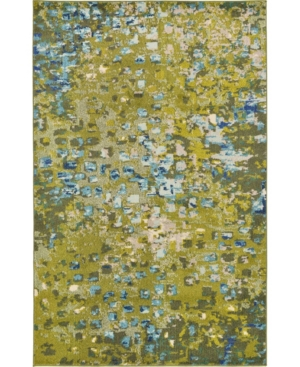Bridgeport Home Adah Ada1 Green 5' x 8' Area Rug