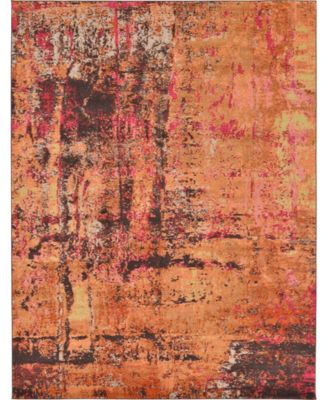 Newwolf New3 Orange 9' x 12' Area Rug