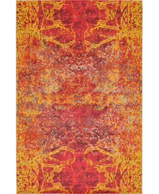 Newwolf New3 Red 7' x 10' Area Rug
